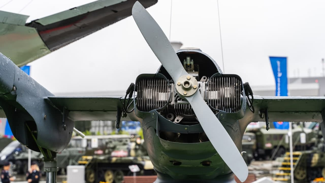 "БПЛА ""Корсар"" с двигателем АПД-50 на выставке ""Армия-2019"""
